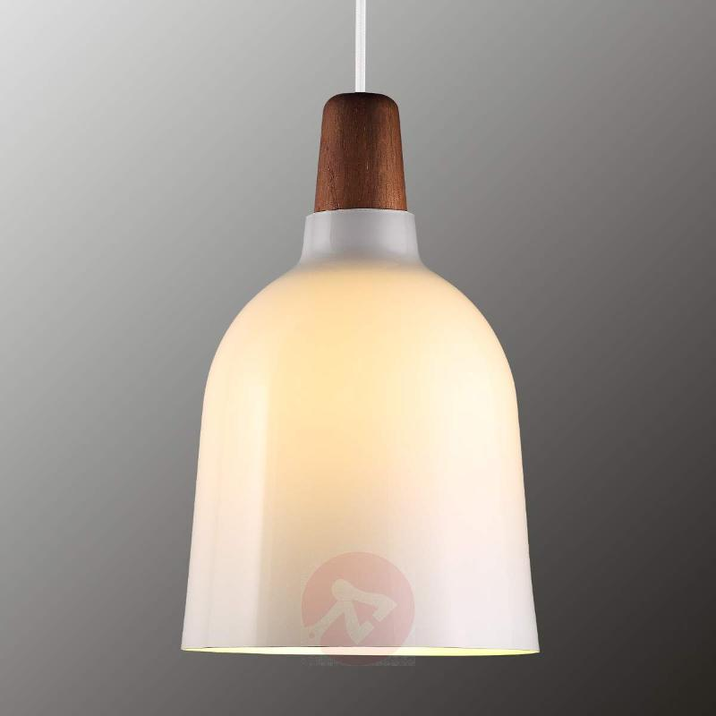 Glass pendant lamp Karma, opal - Pendant Lighting