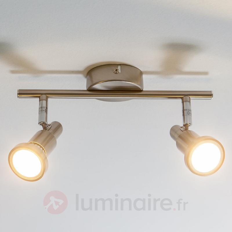 Plafonnier LED Aron à 2 lampes - Plafonniers LED