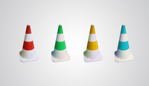 Cones de signalisation souples