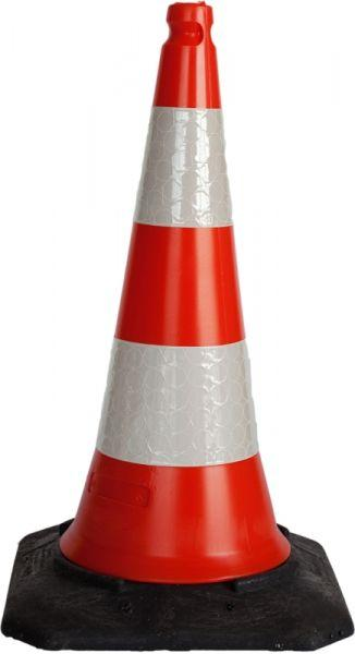 Cone hard with reflective stripes H 75 cm - SIKEL04SW