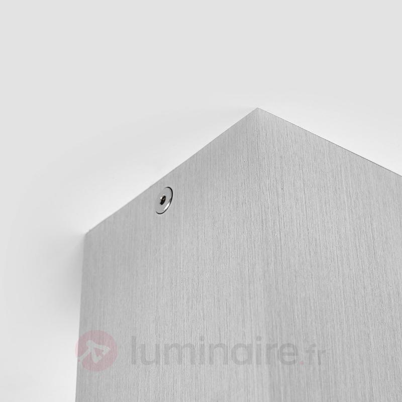 Plafonnier en saillie Carson, carré, couleur alu - Tous les plafonniers