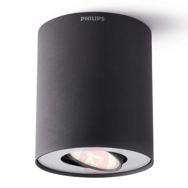 LED surface-mounted spotlight Pillar, black - Ceiling Lights