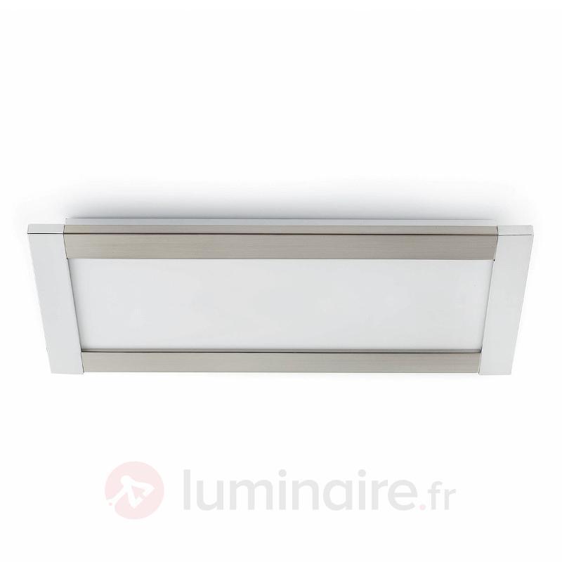 Plafonnier carré Azor 57,5 cm nickel mat - Tous les plafonniers