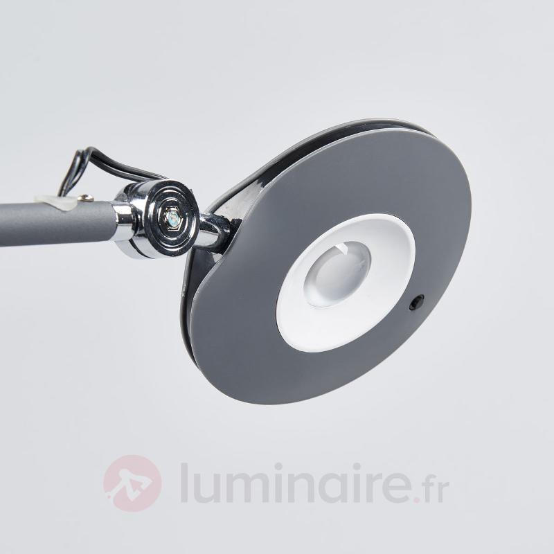 Lampadaire LED fin Roderic en anthracite - Lampadaires LED
