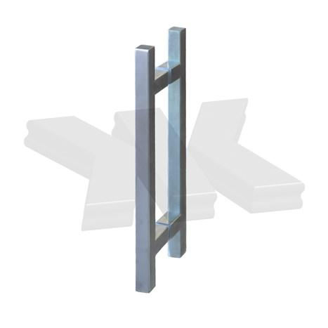 Pull handle square, 25 x 25 mm, stainless steel AISI 304 - Pull handles angular stainless steel