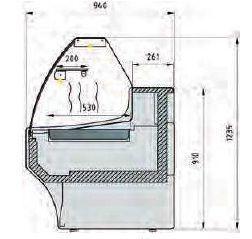 Vitrine bain-marie chaleur sèche série 940 -  Vitrine bain-marie