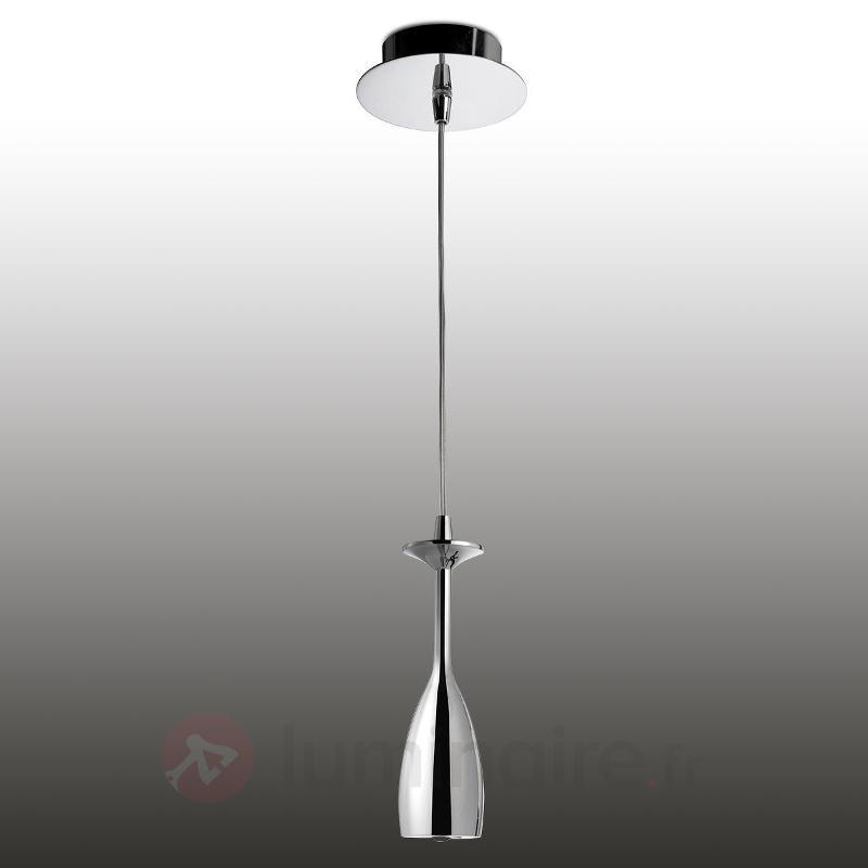 Suspension LED Brindis à l'aspect chromé brillant - Suspensions LED