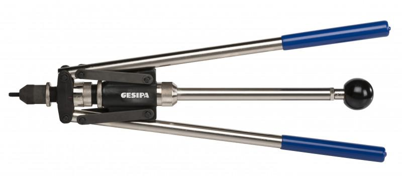 GBM 30 (Blind rivet nut hand tool) - Manual blind rivet nut setting tool with quick drilling unit