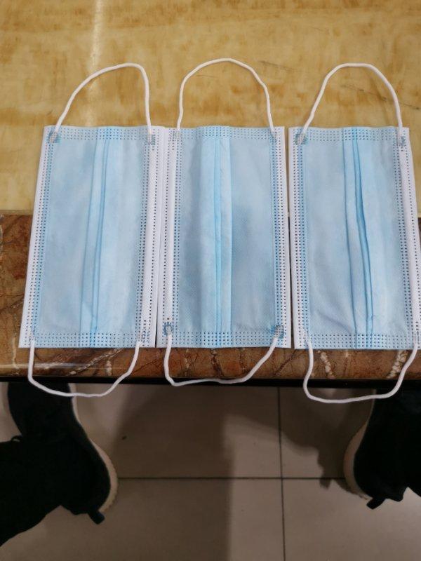 masque jetable 3 plis - masque médicaux a usage unique
