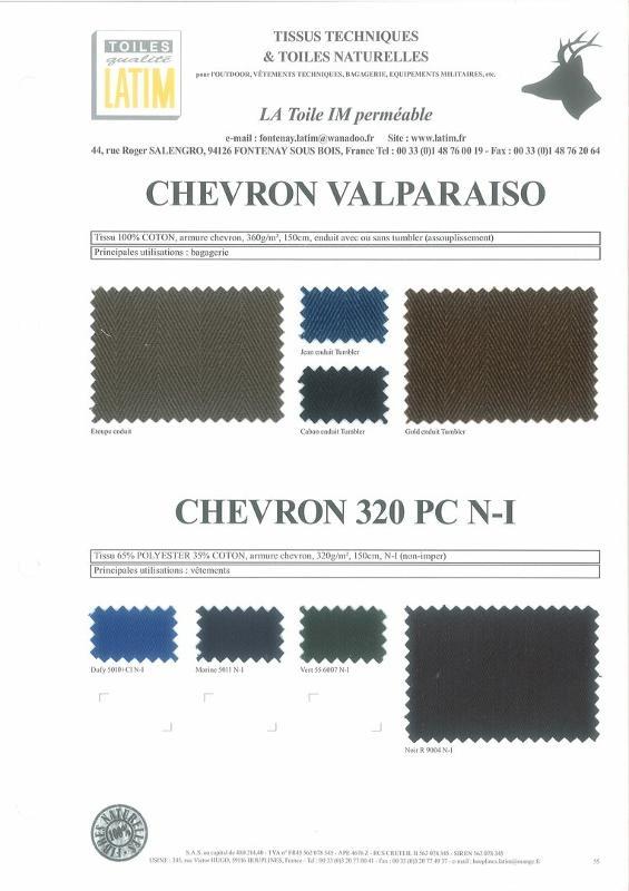 CHEVRON VALPARAISO & CHEVRON 320 PC - N-I - Toiles naturelles