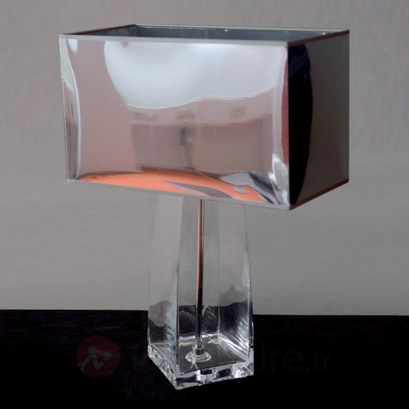 Superbe lampe à poser LISA pied transparent - Lampes à poser pour rebord de fenêtre