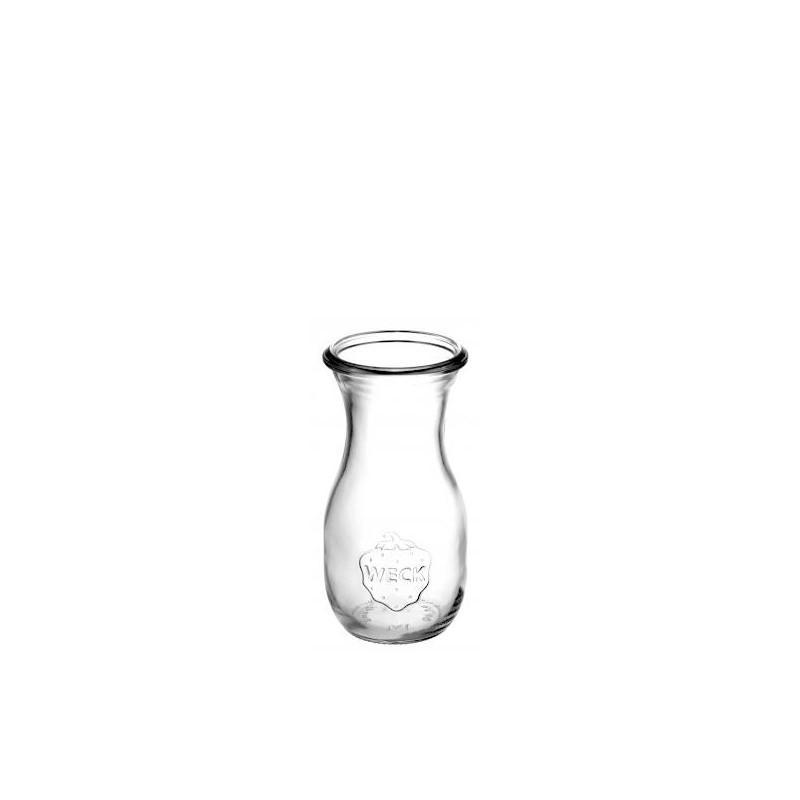 4 bouteilles en verre WECK modèle Flacon 290 ml sans couvercle ni joint - Bocaux WECK FLACON®