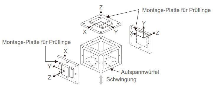 Aufspannwürfel - Aufspannwürfel nach Kundenvorgabe für Schwingungsprüfungen.