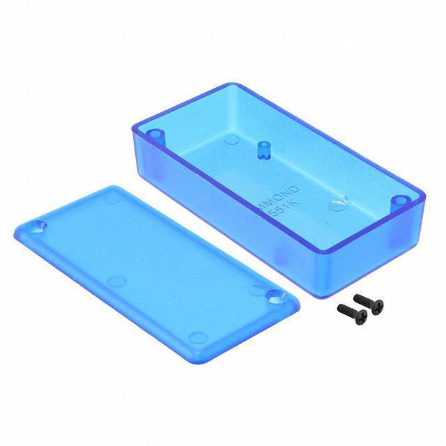 """BOX ABS TRN BLUE 3.15""""L X 1.58""""W - Hammond Manufacturing 1551KTBU"""