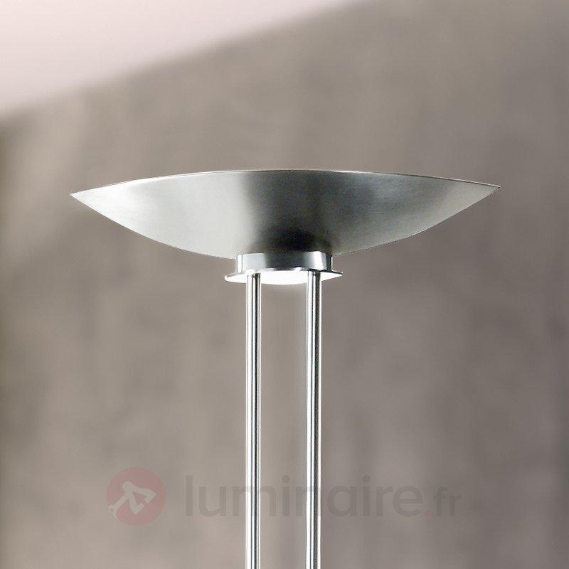 Lampadaire à vasque CASSANDRA finition nickel mat - Lampadaires à éclairage indirect