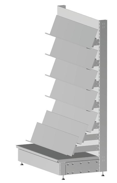 Modular shop rack systems & instore interior shelving design - Magazine presentation