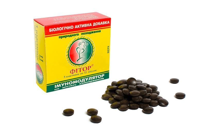 Фитор в форме таблеток - Биоактивная добавка Фитор в форме таблеток
