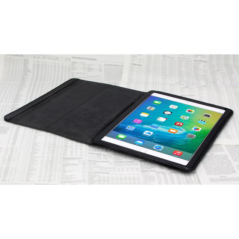 Opis tablet garde - Luxury top-grain leather iPad cases with special magnetic stand