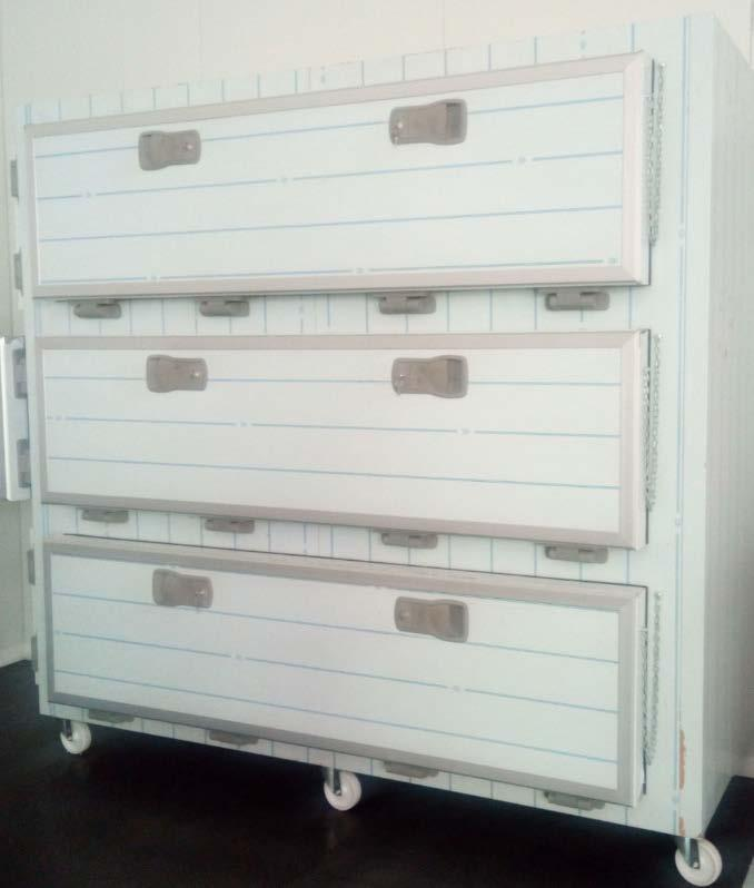 morgue unit - internal and external from stainless steel