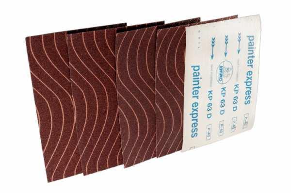 Schleifbogen für Lack / Farbe KP63D painter express - Körnungen: P60, P80, P100, P120, P180