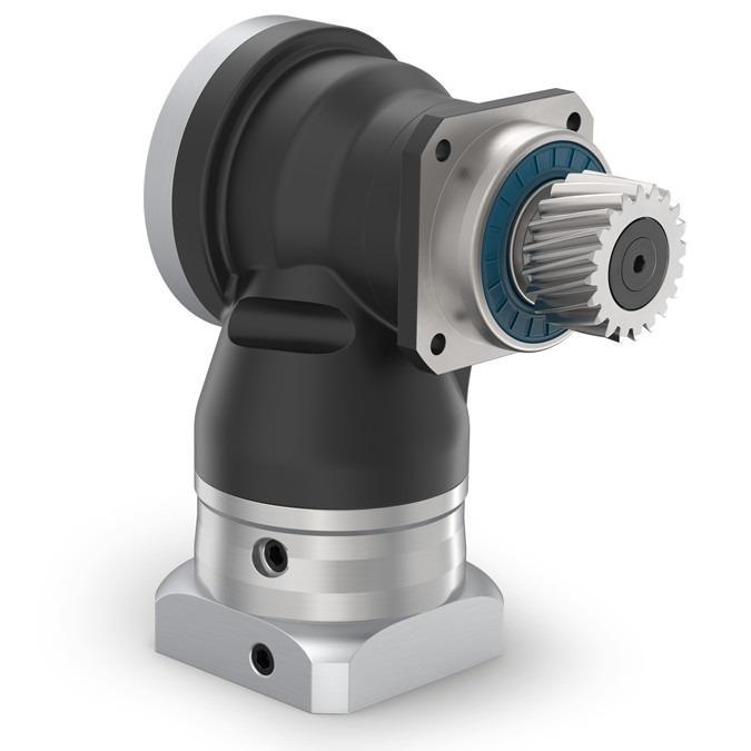 装有小齿轮的高精度减速机 WPLN - 带输出轴的转角型行星减速机 - 偏轴伞齿轮 角度级 - 可选: 降低回程间隙 3-5 arcmin - IP65
