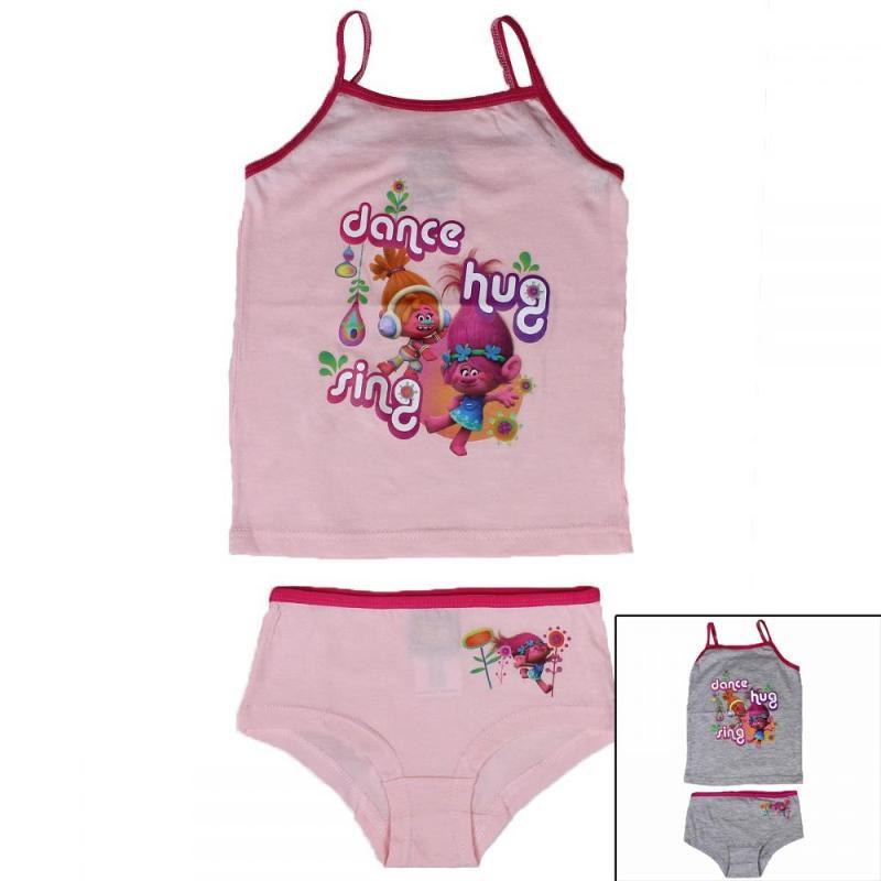 12x Sous-vêtements 2 pieces Trolls du 4 au 10 ans - Sous-vêtement