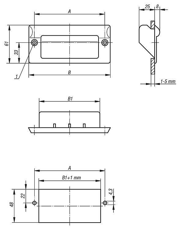 Poignée alcôve - Poignées de manutention, poignées tubulaires et poignées alcôve