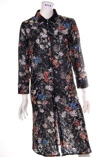 6113 Duster coat Spolverino - Duster lace digitally printed fancy