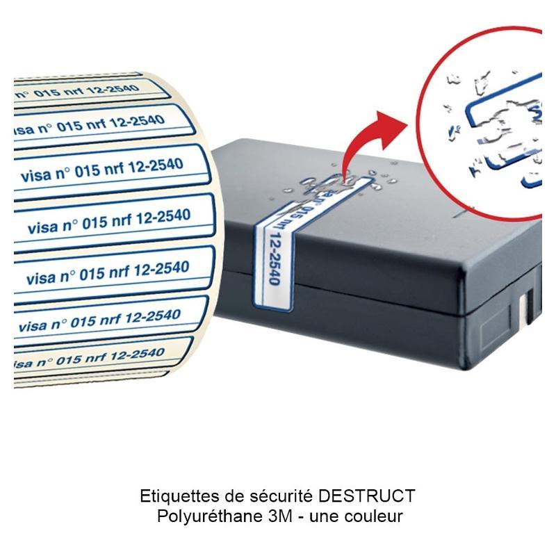 Étiquettes de sécurité DESTRUCT - Étiquettes de sécurité