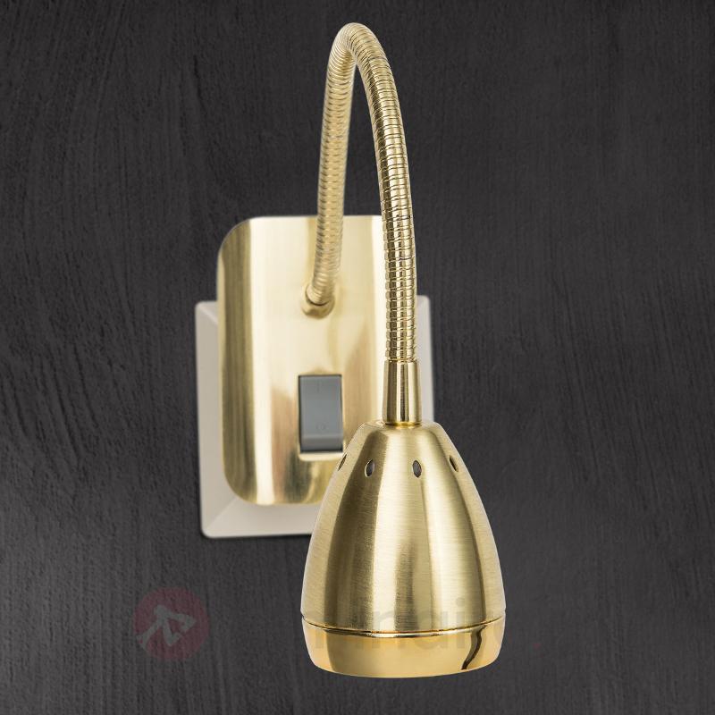 Spot sur prise Manvel en laiton, à LED - Lampes sur prise et veilleuses