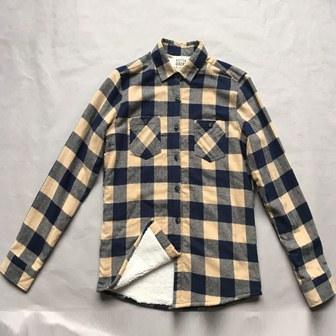 Camisa con forro de lana para hombre - Camisa protectora fría de la capa doble de los hombres