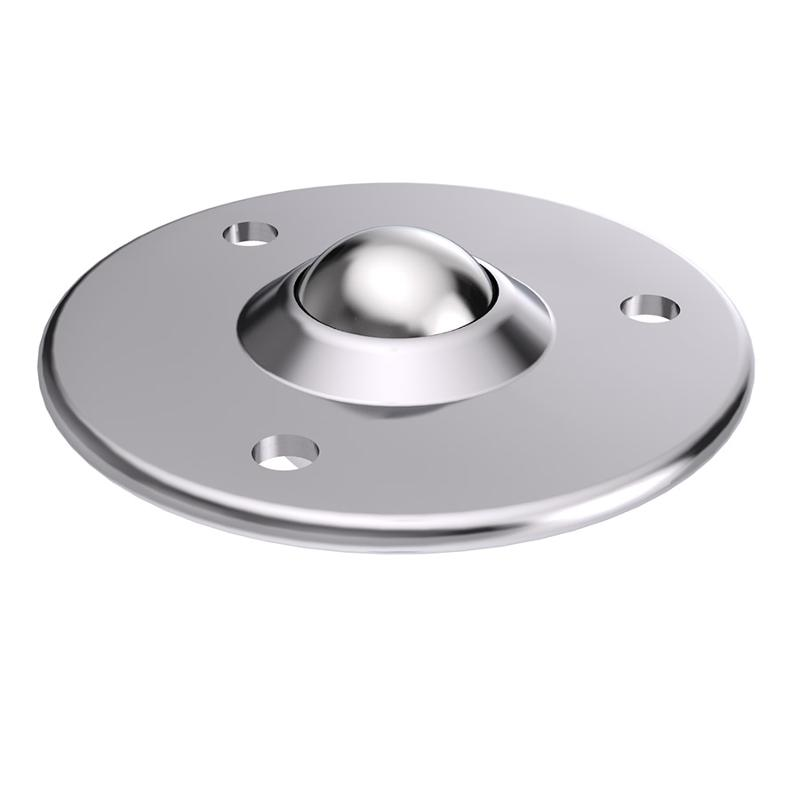 Ball caster with countersunk sheet steel casing - null