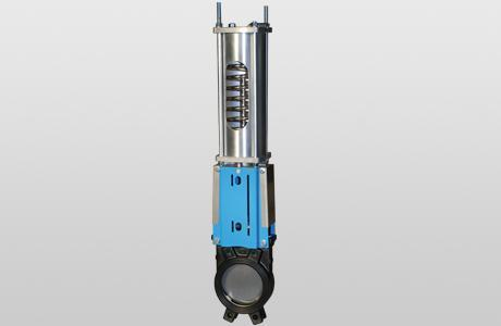 Knife-gate valve WGE-PSNC. - onedirectional - spring return - GG-25