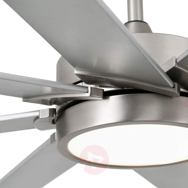 LED ceiling fan Century matt nickel grey - fans