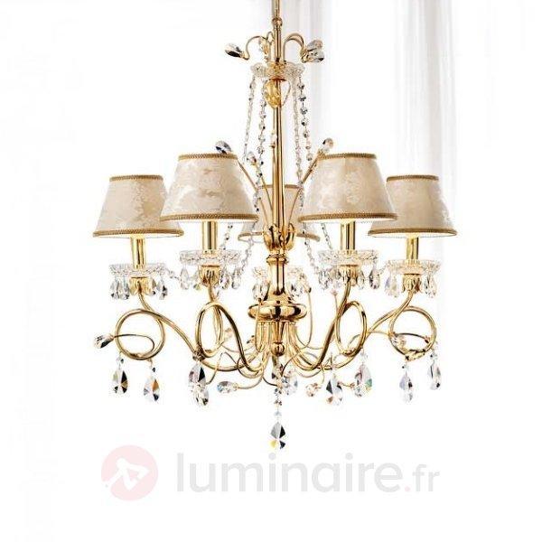 Lustre en cristal Scarlett à 5 lampes - Lustres en cristal