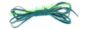 Flat Suede Leather Cords 3.0mm, Color - Dark Turquoise. - Flat Suede Leather Cords 3.0mm, Color - Dark Turquoise.