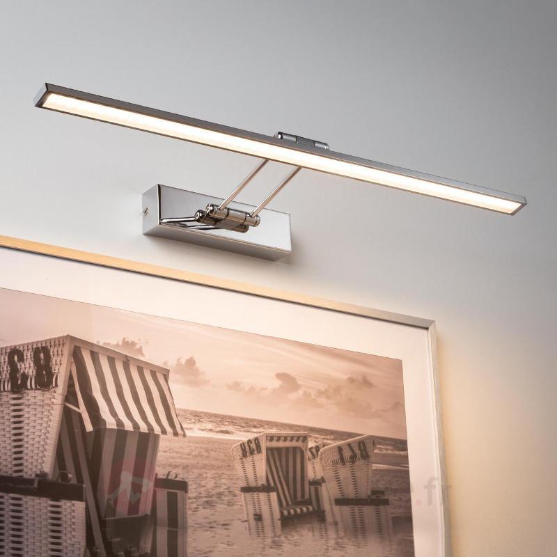 Applique LED Galeria Beam Sixty chromée - Appliques à tableaux