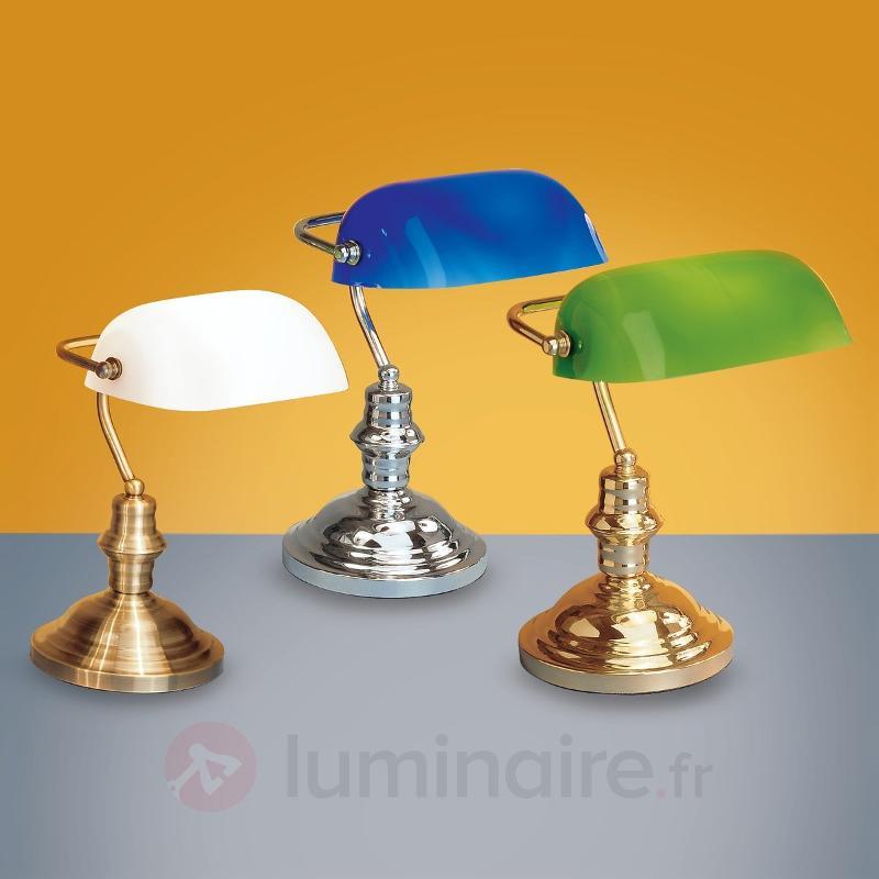 Lampe à poser Onella au style de banque, opale - Lampes de bureau