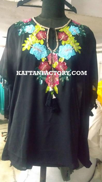 Wholesale Embroidered Short Kaftan | Casual Beach Kaftans - Manufacturer & Exporters | MOQ - 20 pcs | Custom Orders - Accepted