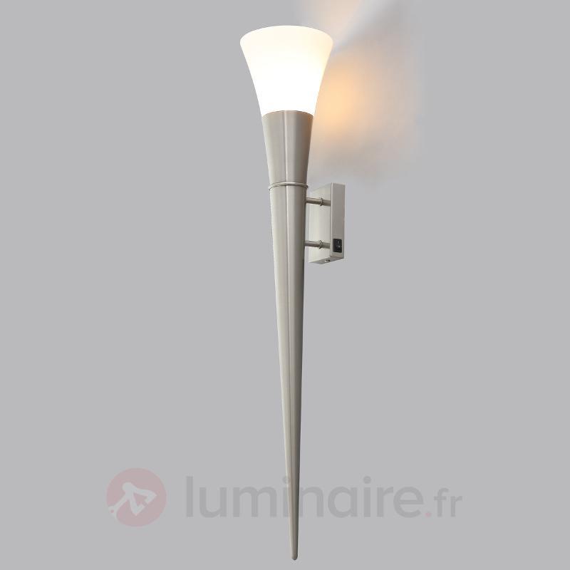 Grande applique LED Neel aspect nickel mat - Appliques LED