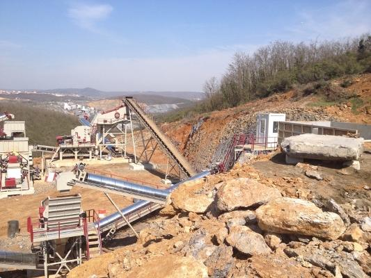 USED CRUSHING AND SCREENING PLANT FOR SALE -