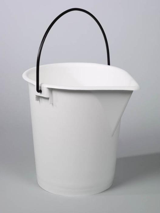 Seaux de laboratoire - Seau en plastique, PE, blanc, 10 l, 15 l