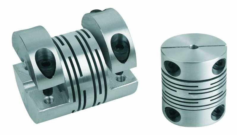 Beam couplings with removable clamping hub - Beam couplings with removable clamping hub, aluminium or stainless steel