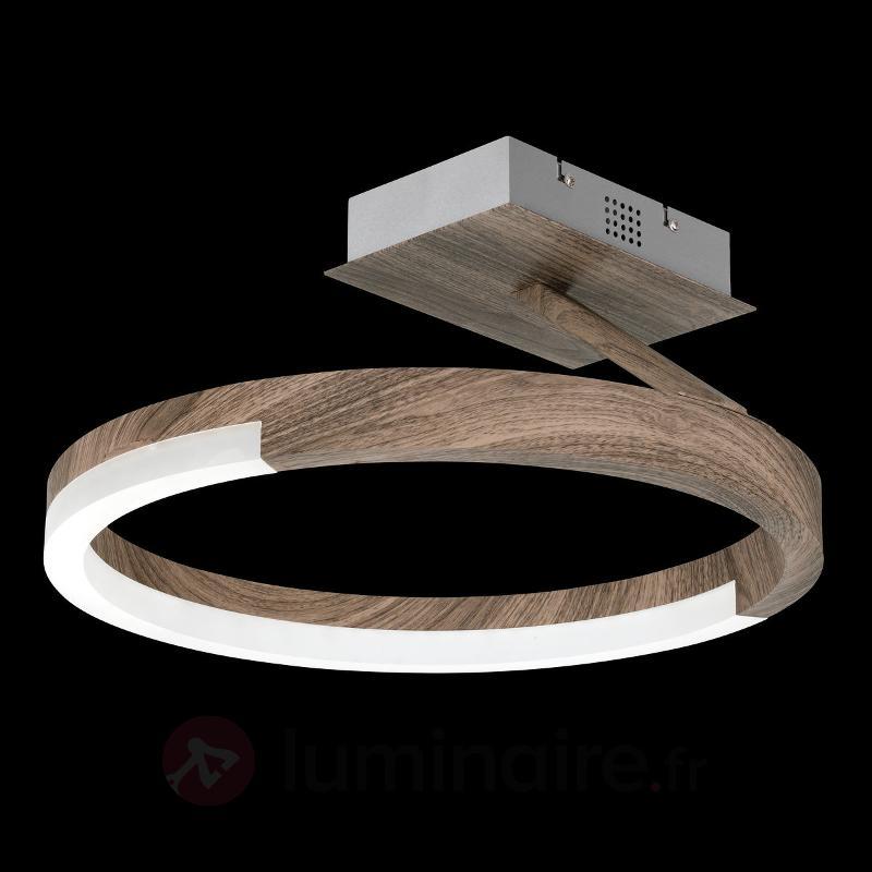 Plafonnier LED atmosphérique Stick, bois - Plafonniers LED