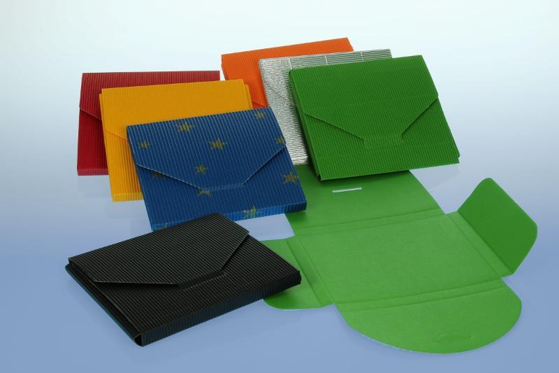 CD Geschenkverpackung - rot - 145x130x10 mm - Geschenkverpackungen