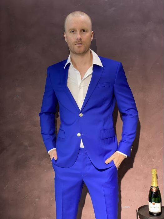 Bespoke or Size Suit - High end quality - Blue Made to Measure Suit - High end quality Super 130 wool