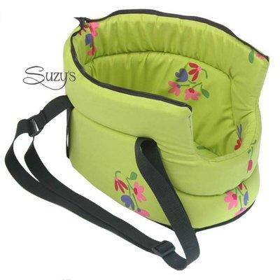 Carrier with zipper green flowers for Pets