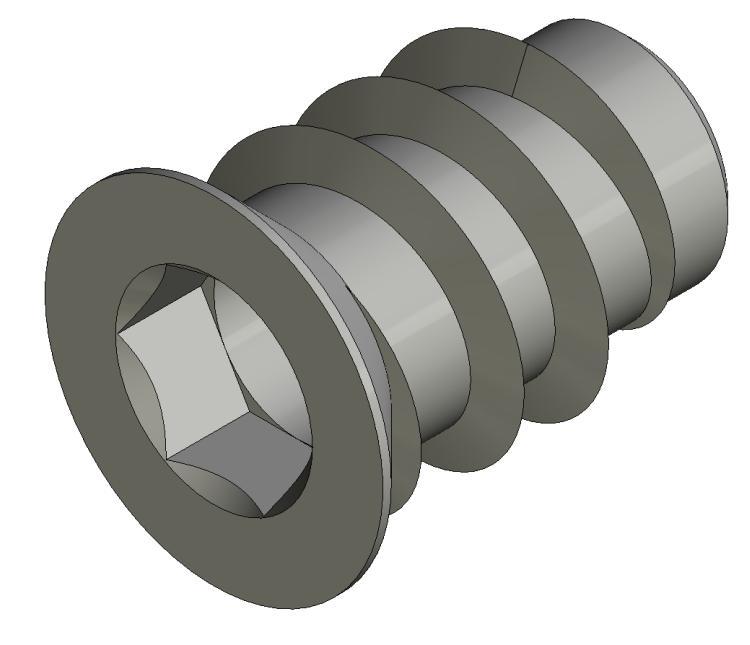 Einschraubmuffe M6 23mm m. Rand - Stahl gepresst - hell verz - Verbindungs- und Distanzhülsen