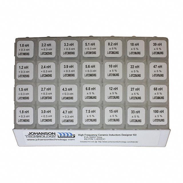 0402 S HI FREQ IND DESIGNER KIT - Johanson Technology Inc. L402DC