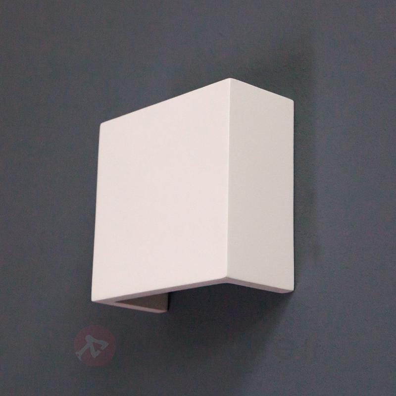 Applique LED Fabiola en plâtre - Appliques LED